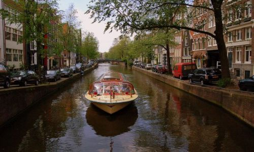 Zdjecie HOLANDIA / pln-wsch / Amsterdam / Kanał wycieczkowy