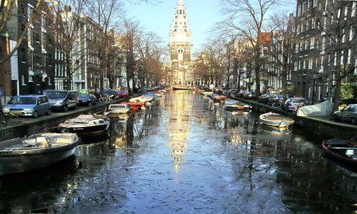 Zdjecie HOLANDIA / Nord Holland / Amsterdam / kra na kanale