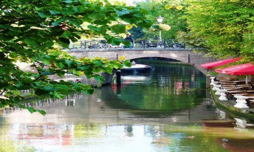 Zdjęcie HOLANDIA / utrecht / utrecht / Spokojny dzień nad kanałem