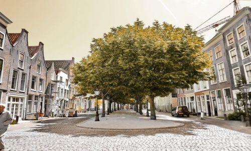 Zdjecie HOLANDIA / Zuid Holland / Leiden / Placyk w starej dzielnicy