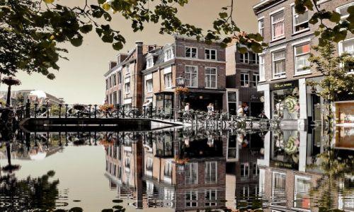 Zdjecie HOLANDIA / Zuid Holland / Leiden / Wysoka woda w Leiden
