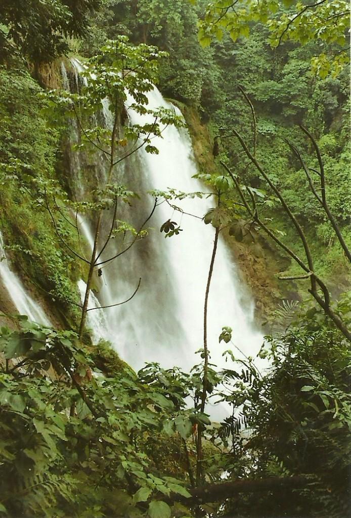 Zdjęcia: Park Narodowy Pico Bonito, Płn. Honduras, Wodospad na Rio Zacate, HONDURAS