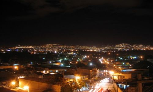 HONDURAS / Ameryka / Tegucigalpa / Tegucigalpa by night !!!