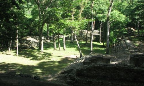 Zdjęcie HONDURAS / - / Copan / Zwiedzając ruiny
