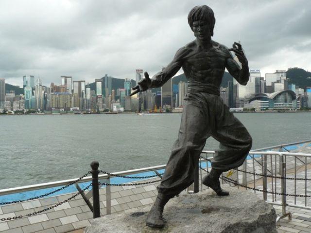 Zdjęcia: Kowloon, Pomnik Bruce'a Lee w Alei Gwiazd, HONG KONG