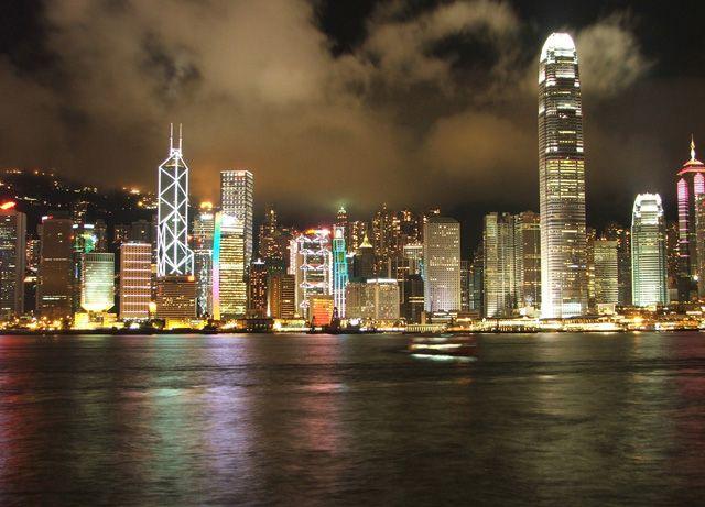 Zdjęcia: Widok na wyspę Hongkong, Widok na Central, HONG KONG