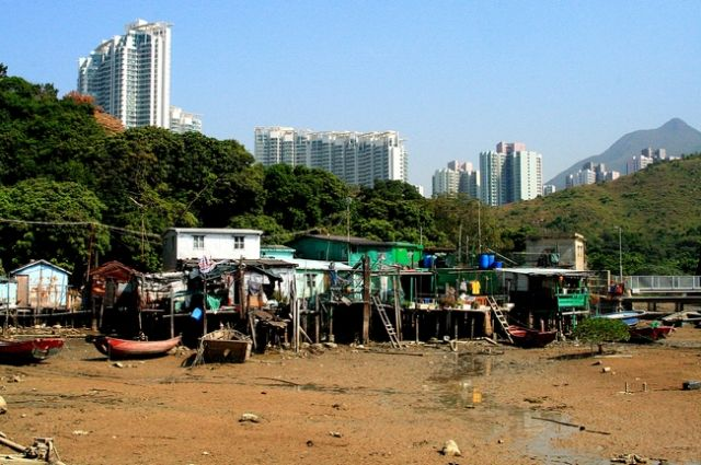 Zdj�cia: Wyspa Landau, Wioska rybacka_, HONG KONG