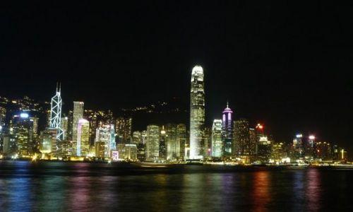 HONG KONG / - / Hong Kong / Widok na wieżowce wyspowej części Hong Kongu
