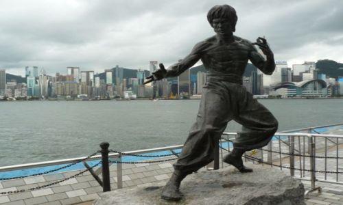 Zdjecie HONG KONG / - / Kowloon / Pomnik Bruce'a