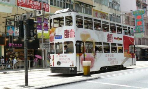 HONG KONG / - / Wan Chai / Jedyne na świecie dwupiętrowe tramwaje