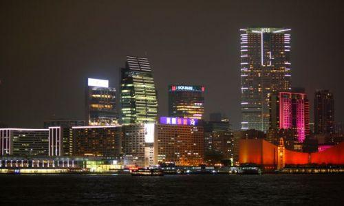 Zdjecie HONG KONG / hk / Hong Hong / Hong Kong noca