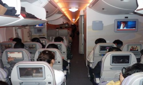 Zdjecie HONG KONG / pod niebem / Airbus 380 / W powietrzu