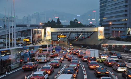 Zdjęcie HONG KONG / - / Hong Kond / taxi do domu aby szybciej