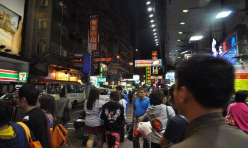 Zdjęcie HONG KONG / Centrum / Dzielnica Mongkok / 2 ga w nocy