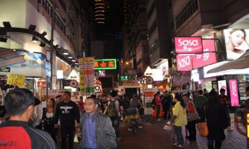 Zdjęcie HONG KONG / Hong Kong / Dzielnica Mongkok / 2 ga w nocy