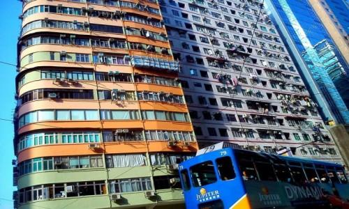 Zdjecie HONG KONG / Hongkong / Centrum Hongkongu / Tramwaj w Hongkongu