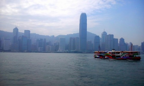 Zdjecie HONG KONG / Koulun / Zatoka Wiktorii / Prom w Hongkongu