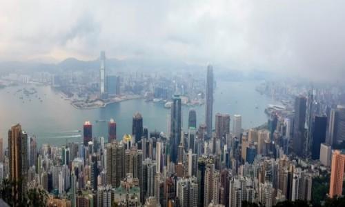 Zdjecie HONG KONG / - / Hong Kong / Widok ze Wzgórza Wiktorii