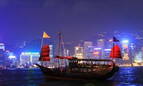 HONG KONG / brak / Widok z Kowloon_ / Wyspa Hong Kong_