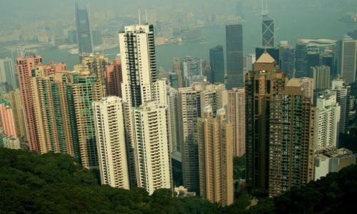 HONG KONG / brak / Widok z góry Wiktorii / Wyspa Hong Kong__