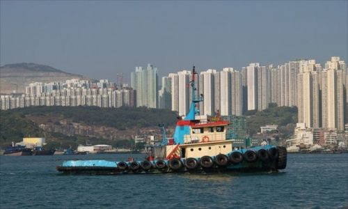 Zdjecie HONG KONG / brak / rejs statkiem dookoła wyspy HK / HK nabrzeże