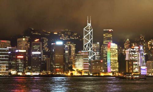 Zdjęcie HONG KONG / Kowloon / Avenue of Stars / Hong Kong nocą