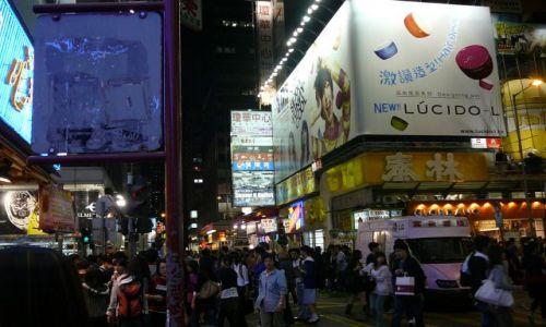 Zdjęcie HONG KONG / Mongkok / ulica / Miasto noca 2