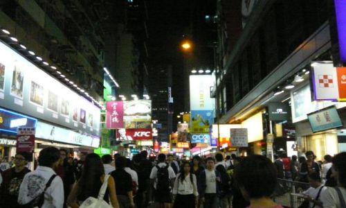 Zdjęcie HONG KONG / Mongkok / ulica / miasto nocą 5
