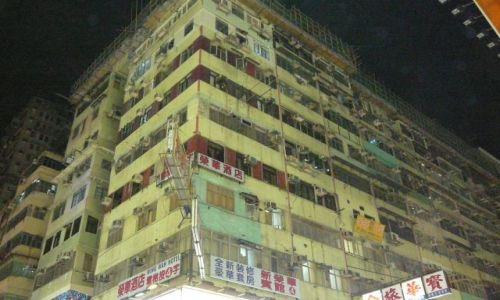 Zdjęcie HONG KONG / Mongkok / ulica / miasto nocą 6