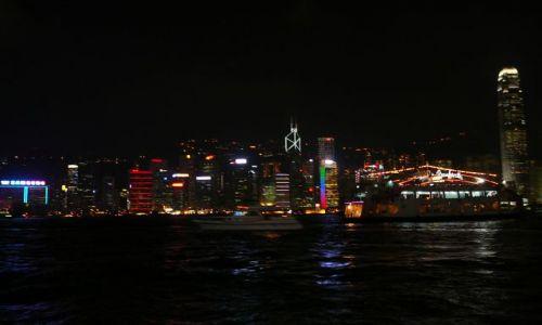 Zdjęcie HONG KONG / Mongkok / ulica / wyspa w nocy