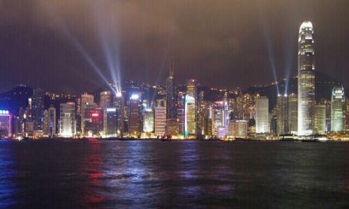 Zdjecie HONG KONG / Hong Kong / promenada gwiazd / nocą
