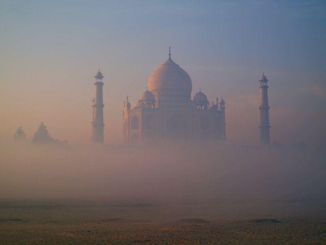 Zdjęcia: Agra, Uttar Pradesh, Taj Mahal przy wschodzie slonca, INDIE