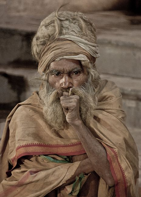 Zdjęcia: Waranasi, Sadhu z Waranasi, INDIE