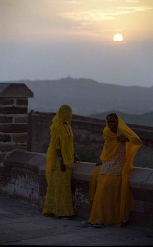 Zdjęcia: Jodhpur, Rajastan, Zachód słońca nad Pałacem, INDIE