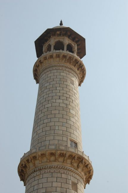 Zdjęcia: Agra, Uttar Pradesh, Jeden z Minaretów przy Taj Mahal, INDIE