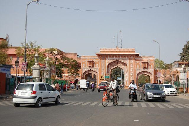 Zdjęcia: Jaipur, Radżastan, Brama wjazdowa do Różowego Miasta, INDIE