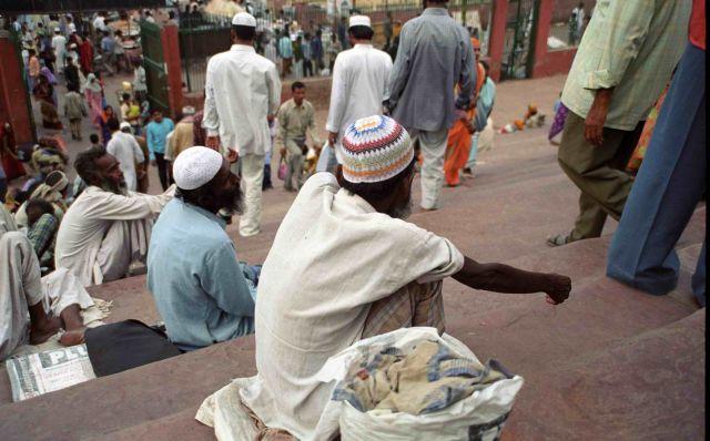 Zdj�cia: Delhi, Schody do meczetu, INDIE