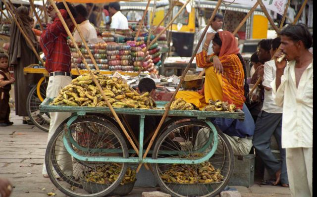 Zdjęcia: Delhi, Stoisko na targu, INDIE