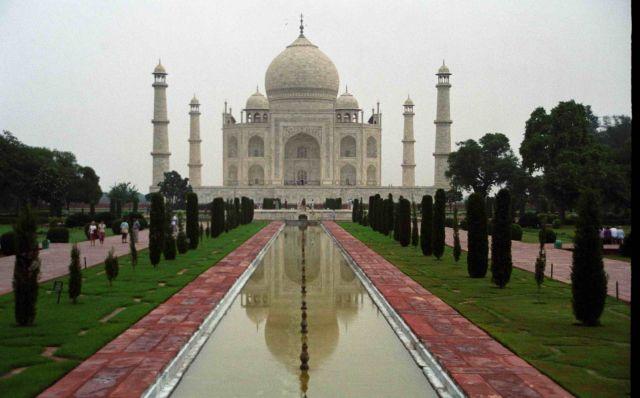 Zdjęcia: Taj Mahal - Agra, Taj Mahal - odbicie, INDIE