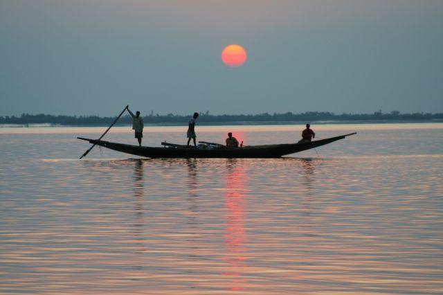 Zdjęcia: DELTA GANGESU, WEST BENGAL, ZACHOD SLONCA , INDIE