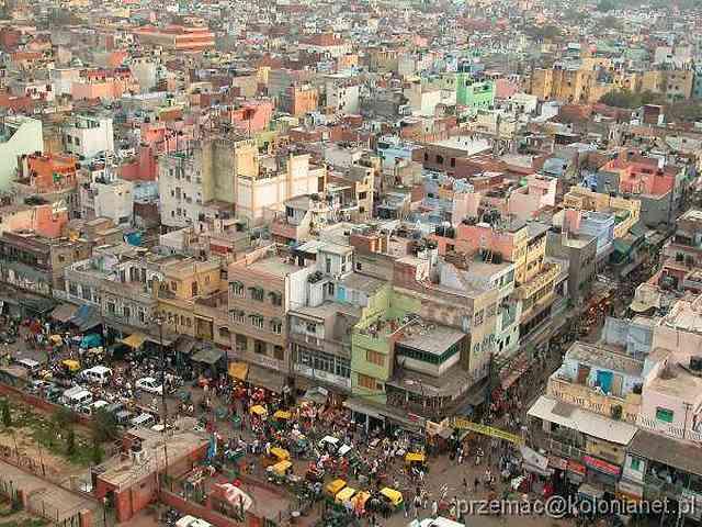 Zdjęcia: Delhi, Widok na Delhi z minaretu Jama Masjid, INDIE