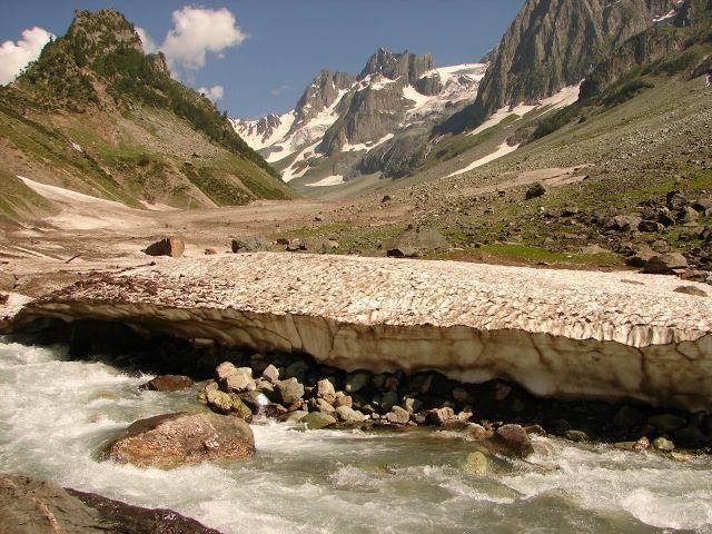 Zdjęcia: Sonamarg, Kashmir - , Widok na lodowiec, INDIE