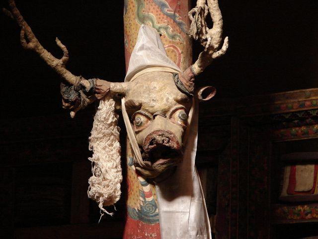 Zdjęcia: Leh, Ladakh, demony na zamku w Leh, INDIE