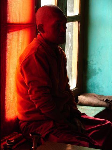 Zdj�cia: Dolina Nubra  klasztor w Diskit, Ladakh, Modlitwa , INDIE