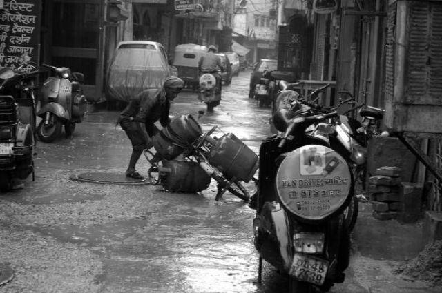 Zdj�cia: Delhi, Kolory Indii - monsun, INDIE