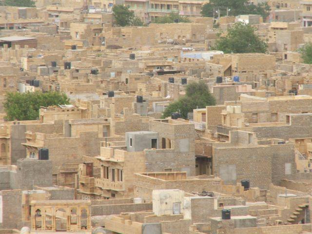 Zdjęcia: Jaisalmer, Radjastan, Jaisalmer- widok z fortu, INDIE