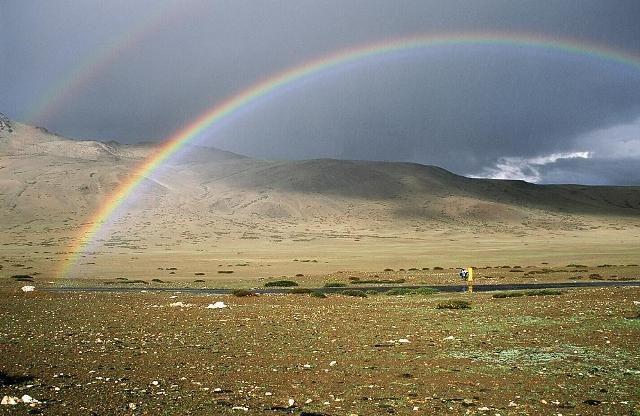 Zdjęcia: Równina Morei, Ladakh , Tęcza, INDIE