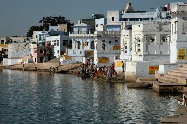 Zdj�cia: Pushkar, Rajastan, jezioro Pushkar, INDIE