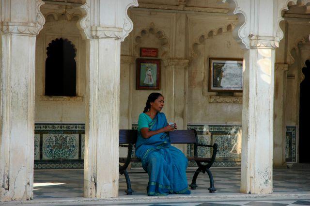 Zdjęcia: Udaipur, Rajastan, zamyślona, INDIE