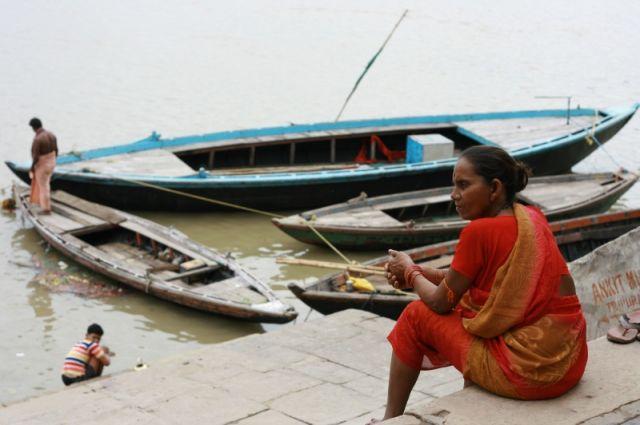 Zdjęcia: Varanasi, Uttar Pradesh, Nad Gangesem, INDIE
